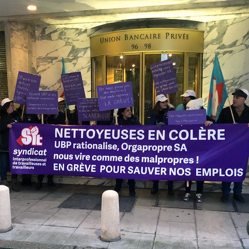 Foto dello sciopero di Ginevra